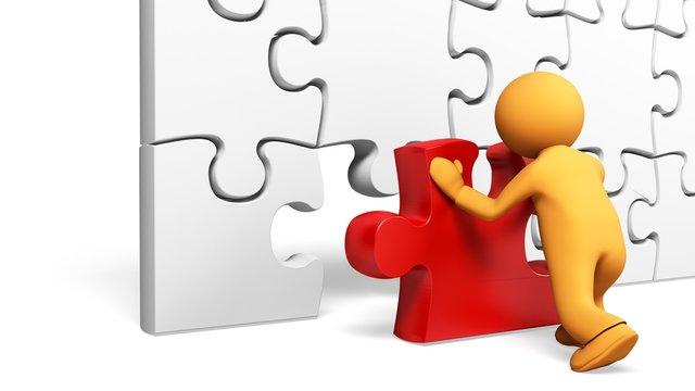Puzzle. 3D. Missing Piece