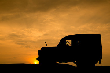 4x4 vehicle car Silhouettes