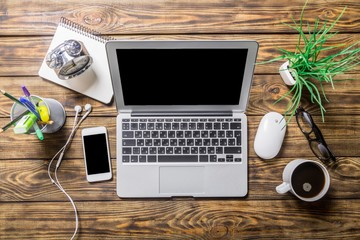 Job. Businessman Internet Online Job Search application Concept