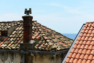 Rooftops in Dubrovnik's Old City, Croatia