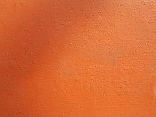 Orange plaster wall
