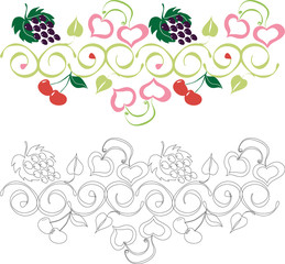 Орнамент с фруктами