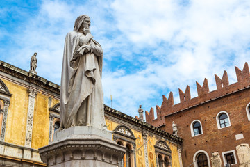 Wall Mural - Statue of Dante   in Verona, Italy