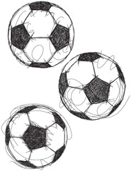 Soccer ball sketches