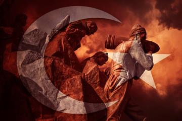 Heroic Turkish Flag
