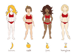 Illustration - female types of figures