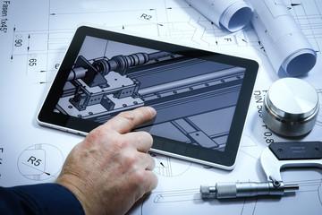 Maschinenbau, 3D Konstruktion, technische Zeichnungen