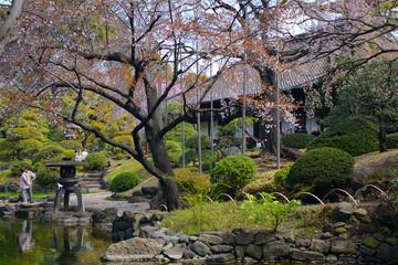 Denpo-in in Asakusa, Tokyo, Japan
