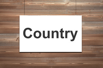 white canvas on wooden wall country