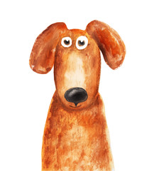 Red dog. Vector