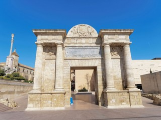 Puerta Del Puente gate to the old town of Cordoba in Spain