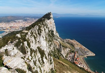 High view of Rock of Gibraltar (Calpe)