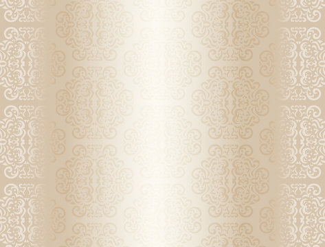 Luxury champagne background with ornament pattern