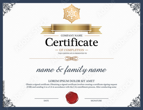 Certificate design template stock image and royalty for Free share certificate template bc