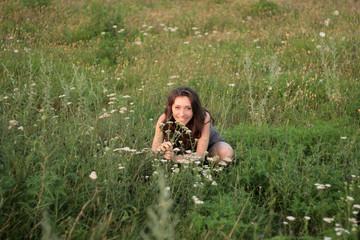 girl woman spring