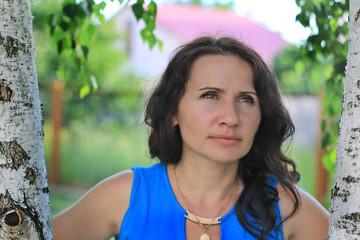 portrait woman nature park green