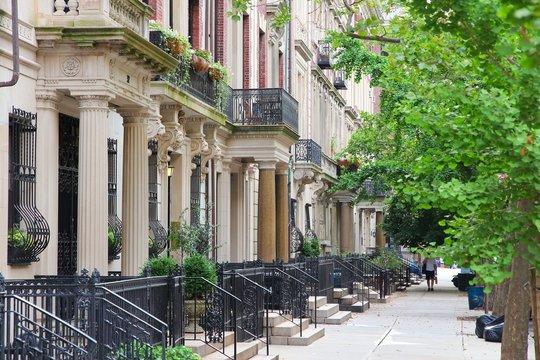 New York brownstone in Upper West Side