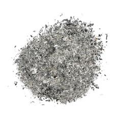 ash isolated on white background
