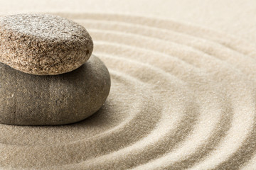 Foto op Plexiglas Stenen in het Zand zen stones
