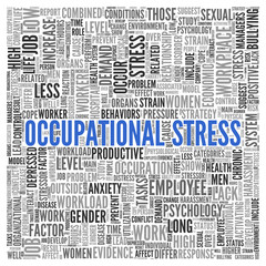 OCCUPATIONAL STRESS Concept Word Tag Cloud Design
