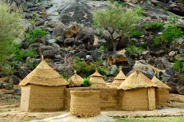 Mud house in West Africa