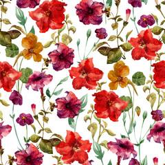 Petunia flower pattern