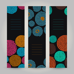 Set of Vertical Banners. Abstract African ornament. Vector.