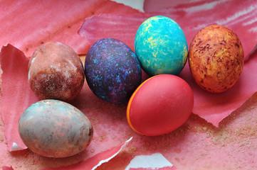 Easter galaxy eggs