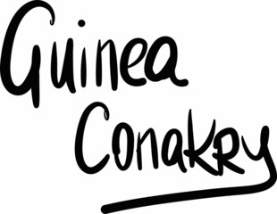 Guinea, Conakry, hand-lettered
