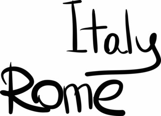 Italy, Rome, hand-lettered