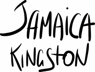 Jamaica, Kingston, hand-lettered