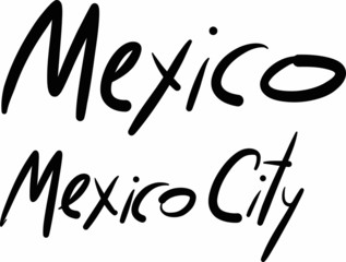 Mexico, Mexico City, hand-lettered