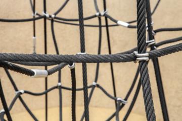 Verbindung Sicherheit  schwarzes Seil