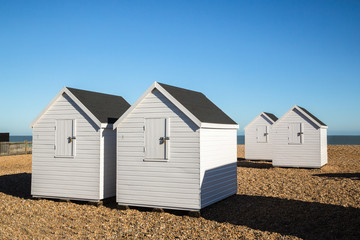 White Beach huts, Deal, Kent