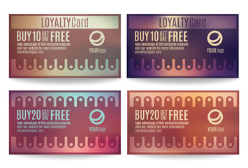 Customer loyalty card or reward card templates