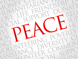 Peace word cloud concept