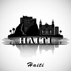 Modern Haiti Skyline Design. vector silhouette