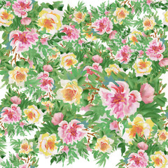 Floral colorful spring flowers seamless pattern background
