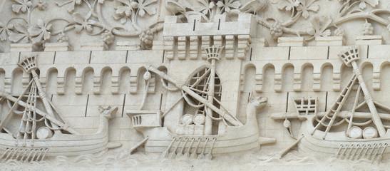 Sculpture de bateau