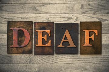 Deaf Wooden Letterpress Theme