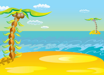 Vector illustration. The concept of leisure travel.
