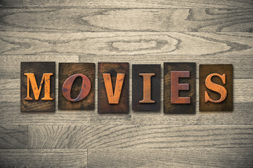 Movies Wooden Letterpress Theme