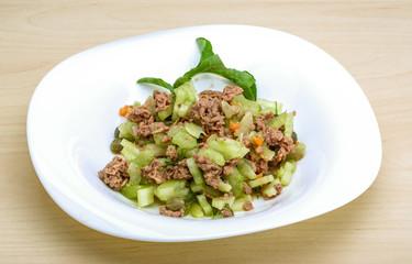 Tuna and celery salad