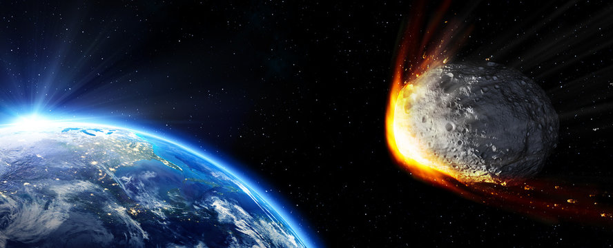 Impact Earth - meteor in route collision