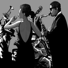 Fototapete - 0009-jazzsinger