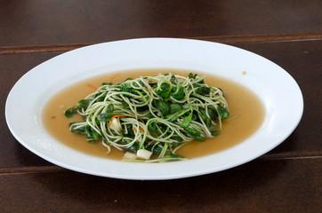Thai food, fried vegetable