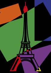 La Tour Eiffel Pop art