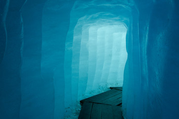 Corrindor inside the Rhone Glacier, Switzerland