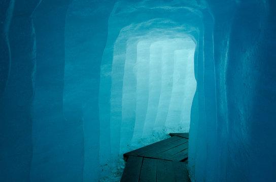 Corridor inside the Rhone Glacier, Switzerland