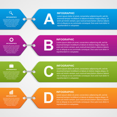 Abstract infographic options banner. Design elements.